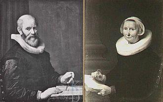 Cornelis Danckerts de Ry - Peter's portraits of his parents.
