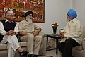 Parkash Singh Badal meeting the Deputy Chairman, Planning Commission, Shri Montek Singh Ahluwalia for finalizing plan size for 2012-13 for the State, in New Delhi. The Minister of State for Planning.jpg