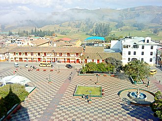 Chocontá - Main square of Chocontá