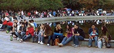 Parque farroupilha - espelho dagua