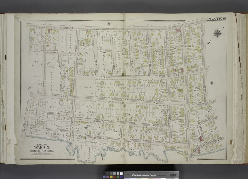 File:Part of Ward 3. (Map bound by Richmond Ave, Albion PL, Washington PL, Simonson PL, Catharine St, Jewett Ave, Post Ave, Courtland St (Madison Ave), Catharine St, Palmers Run, Barrett Ave, NYPL1646238.tiff