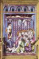 Particolare di una scena in smalto translucido del reliquiario del coprorale di bolsena, duomo di orvieto, fatto da ugolino di Vieri, senese, tra il 1337 e il 1338.jpg