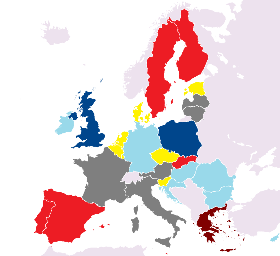 Party affiliations in the European Council (1 July 2018)