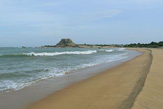Yala National Park - Patanangala, a rock outcrop in the Yala beach