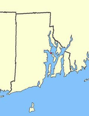 Patience Island - Patience Island, shown in red, in the inner part of Narragansett Bay