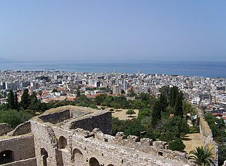 Outline of Greece - View of Patras from the fortress