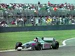 Paul Belmondo - Pacific PR01 at the 1994 British Grand Prix (32162214940).jpg