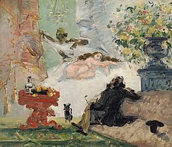 Una moderna Olimpia, h. 1873-74, obra de Cézanne presentada en la primera muestra impresionista.