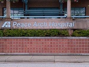 Peace Arch Hospital - Image: Peace Arch Hospitalsign