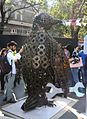 Penguin with spanner made by Naval Dockyard (Mumbai) on display at Kala Ghoda Festival.jpg