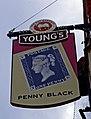 Penny Black (2) - pub sign, 5 North Street - geograph.org.uk - 2121286.jpg