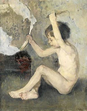 Périclès Pantazis - L' Enfant au cerceau (unknown date)
