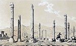 Persepolis , view the ruins 5 by Eugène Flandin.jpg