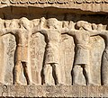 Persepolis Tomb of Artaxerxes II Mnemon (r.404-358 BCE) Upper Relief Indian soldiers with labels.jpg