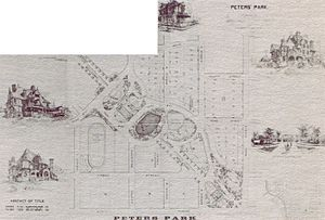 Peters Park (Atlanta) - 1884 plan for Peters Park