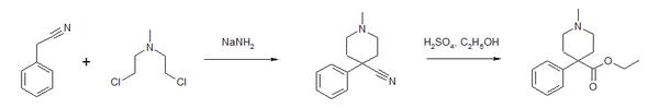 Synthese von Pethidin