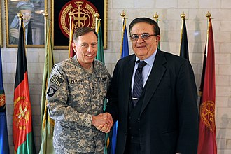 Abdul Rahim Wardak - U.S. Army Gen. David H. Petraeus with Wardak in 2010.