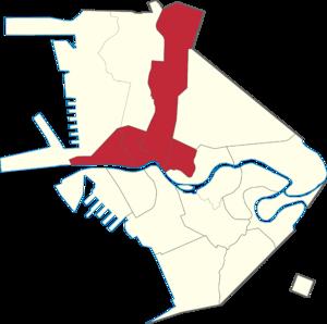 Legislative districts of Manila - Manila's current third district highlighted.