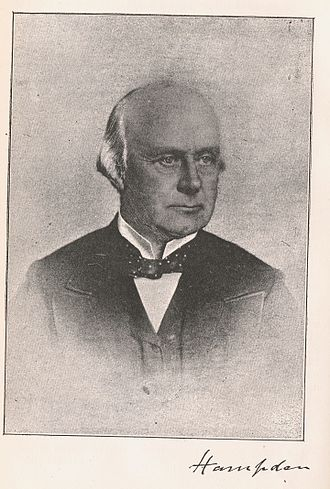 Henry Brand, 1st Viscount Hampden - Hampden's autograph and photograph published by George Potter in 1891.