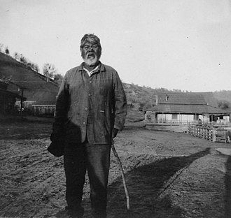 Yokuts - Image: Photograph with text of Dick Neal, a member of the Chuckachancy tribe, California. This is from a survey report of... NARA 296284 (cropped)