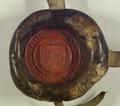 Pieczęć królewska przy dokumencie, w którym Władysław III Warneńczyk król polski, zezwala miastu Poznaniowi używać czerwonego wosku na pieczęciach, przy wystawianiu przywilejów..png