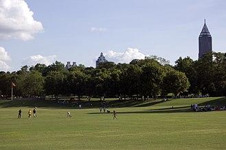 Urban park - The Meadow of Atlanta, Georgia's Piedmont Park.