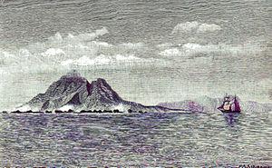Sebesi - A lithograph of Sebesi in 1883.