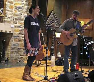 Pierce Pettis - Pierce Pettis and daughter Grace Pettis performing at Duke Divinity School in 2013.