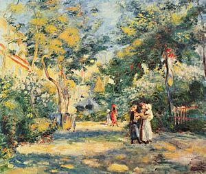 Montmartre - A Garden in Montmartre by Pierre-Auguste Renoir, (1880s)