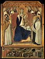 Pietro Lorenzetti - Madonna with Angels between St Nicholas and Prophet Elijah - WGA13539.jpg