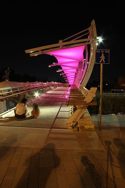 גשר המיתרים בבאר שבע על שפת נחל באר שבע
