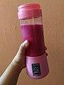 Pink portable blender.jpg