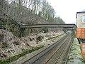 Pipe bridge over the railway, Luddenden Foot - geograph.org.uk - 1182787.jpg