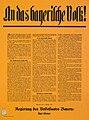 Plakat - Regierungsprogramm der Bayerischen Regierung - Eisner - 1918-11-15.jpg
