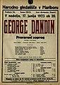 Plakat za predstavo George Dandin ali Prevarani soprog v Narodnem gledališču v Mariboru 17. junija 1923.jpg