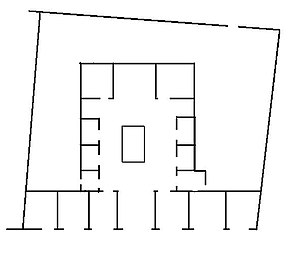 House of Sallust - A rough plan of the House of Sallust.