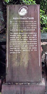 Plaque, Azim Khan's Tomb (01).jpg