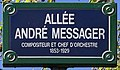 Plaque Allée André Messager - Pantin (FR93) - 2021-04-27 - 1.jpg