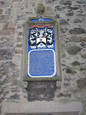 Henry Scougal - Plaque to Henry Scougal in King's College, Aberdeen.