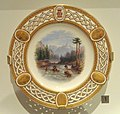 Plate with 'The Assiniboine Rescues Bucephalus', Minton, Longton, Staffordshire, England, c. 1867 - Royal Ontario Museum - DSC00249 (cropped).JPG