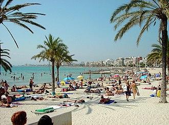 Bay of Palma - Palma Beach, located within the bay.