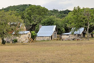 Leon Springs, Texas - Historic saltbox houses of the Plehwe Complex