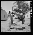 Point Pleasant, West Virginia. Hanging clothes on the line LCCN2017855347.tif