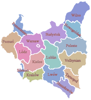Territorial changes of Polish Voivodeships on April 1, 1938