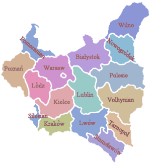 Territorial changes of Polish Voivodeships on April 1, 1938 - Administrative division of the Republic in 1922