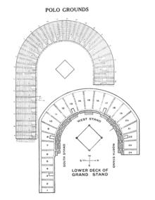 seating diagram of the polo grounds, circa 1923