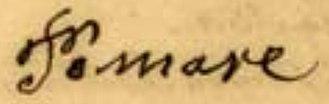 Pōmare IV - Image: Pomare 1872 signature