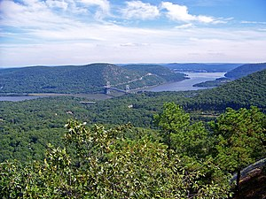 Popolopen - Looking east from the Torne, with Bear Mountain Bridge across the Hudson River
