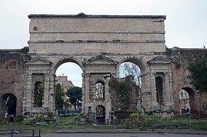 Porta Maggiore - Outer side of the Porta Maggiore.