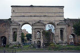 Porta Maggiore building in Esquilino, Italy